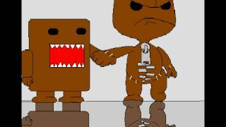 Drawing Sackboy from LBP and Domo