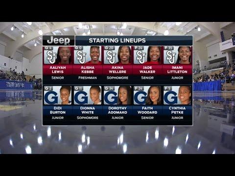 Jan. 13, 2017 - Georgetown University 66 vs Saint John's University 71