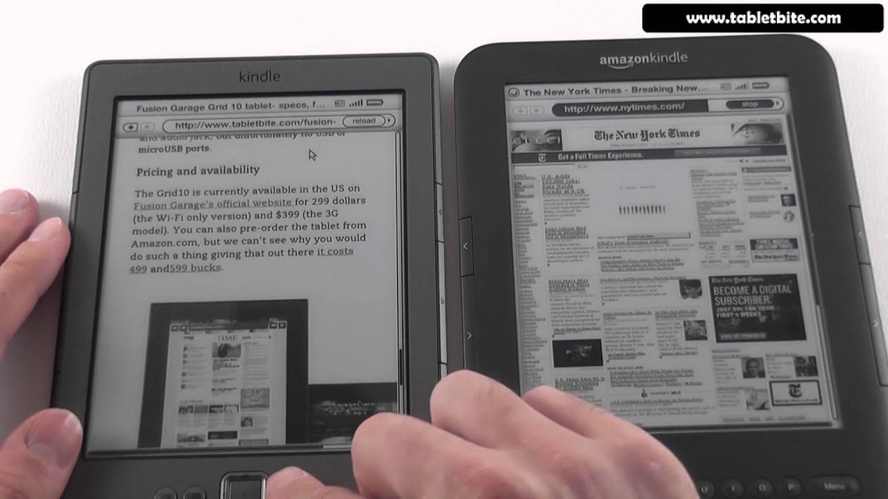 Kindle 4 vs Kindle Keyboard - video comparison