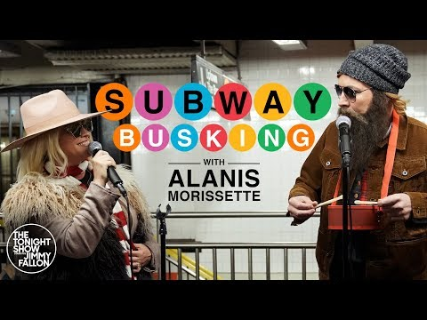 SHROOM - Jimmy Fallon & Alanis Morissette Perform 'You Oughta Know' On NYC Subway