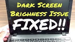 How to Fix Dark Screen issue or brightness doesn't work Issue on ACER C720 Chromebook