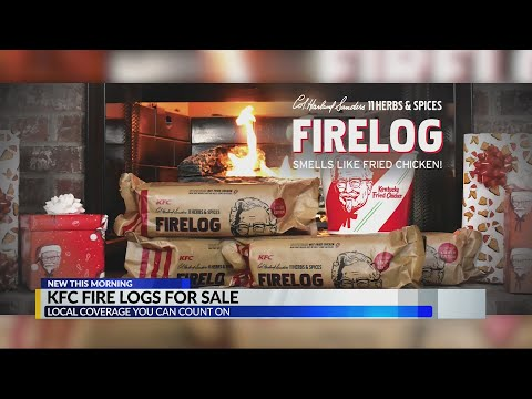 Reading and Harrisburg Breaking News - KFC Fried Chicken-Scented Fire Logs are Back - But They'll Go Fast!