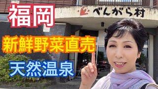 【福岡】八女市 べんがら村 天然温泉 新鮮野菜農産物