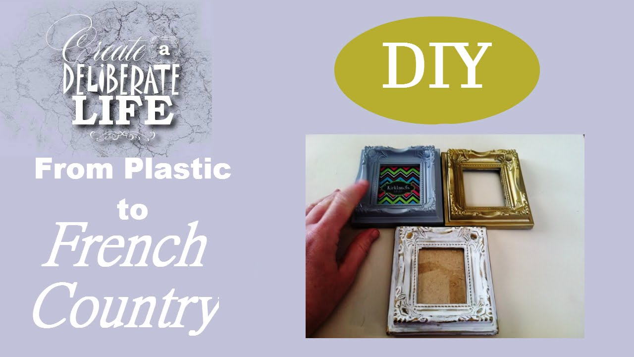 Diy from plastic to faux antique french inspired frame youtube diy from plastic to faux antique french inspired frame jeuxipadfo Choice Image