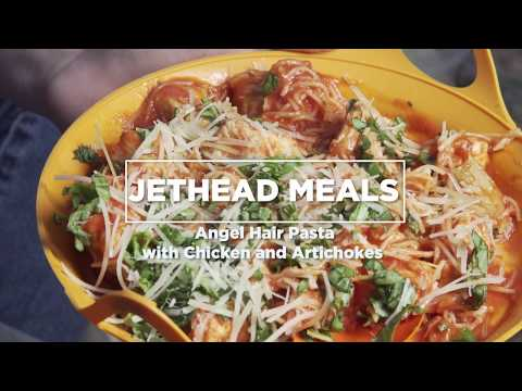 Jethead Meals - Angel Hair Pasta With Chicken And Artichokes