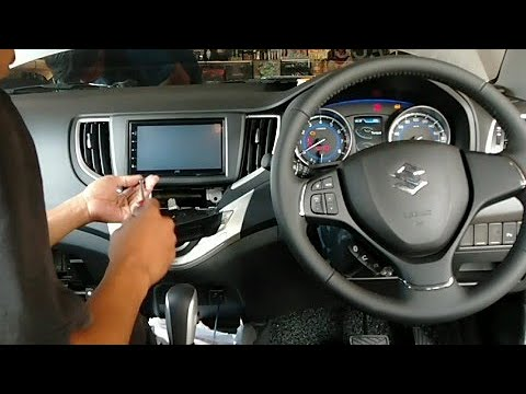 review dan bongkar head unit suzuki baleno