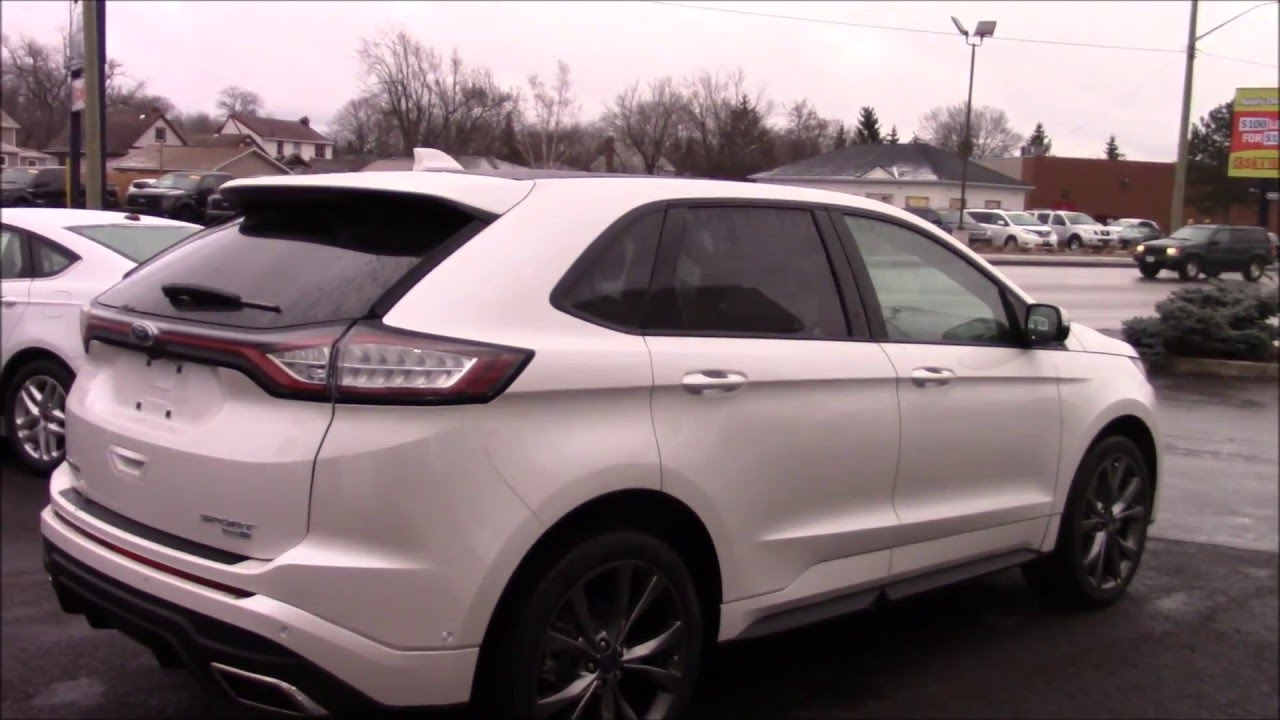 2016 ford edge sport awd indepth walk around and start up youtube