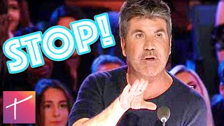 10 Times Simon Cowell Stopped A Singer's Audition On American's Got Talent