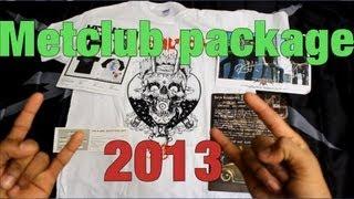 Metallica Metclub package 2013 unboxing