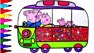 peppa pig coloring book pages compilation kids fun art learning videos for disney brilliant kids