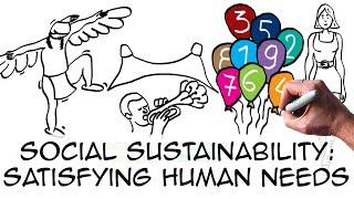 Social sustainability: Satisfying human needs