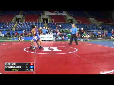 145 Champ. Round 2 - Steven Aguirre (California) vs. Max-Henry Nelson (Washington)