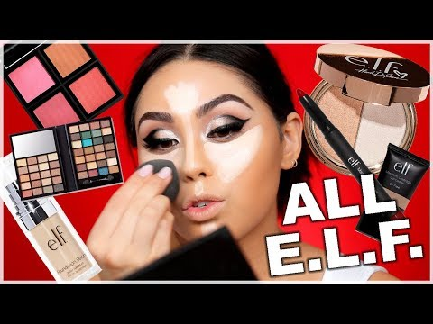 FULL FACE USING ONLY ELF MAKEUP - Holiday Party Makeup Look | Roxette Arisa