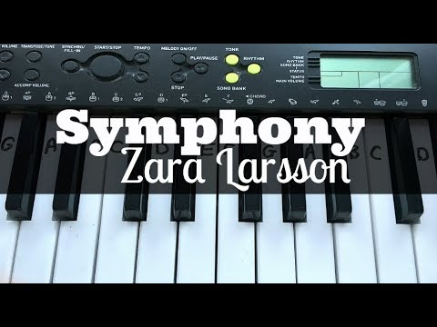 Symphony - Clean Bandit ft Zara Larsson   Easy Keyboard Tutorial With Notes (Right Hand)