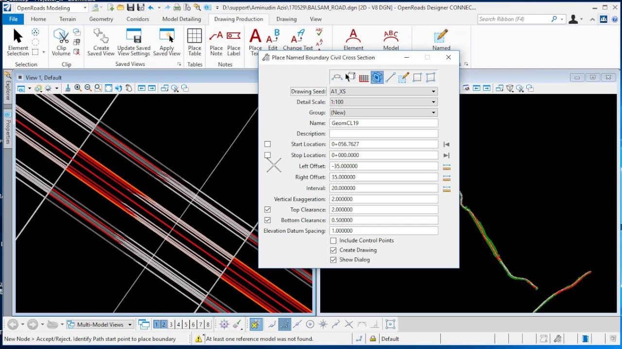 Terren Designer Programm | Openroads Designer Create Cross Section Youtube