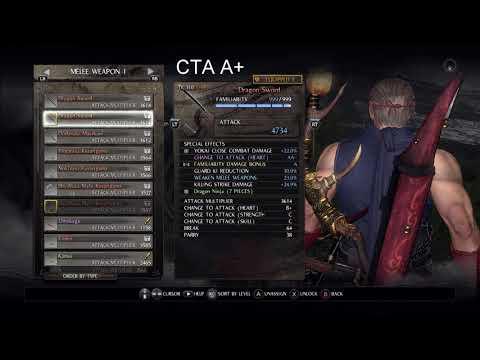 Nioh CTA AA- vs A+ - insignificant gain for non one shot build.