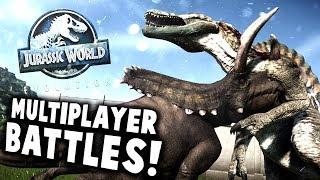 Jurassic World Evolution - MULTIPLAYER BATTLES! The Strongest Modded Dinosaur? - JWE Gameplay