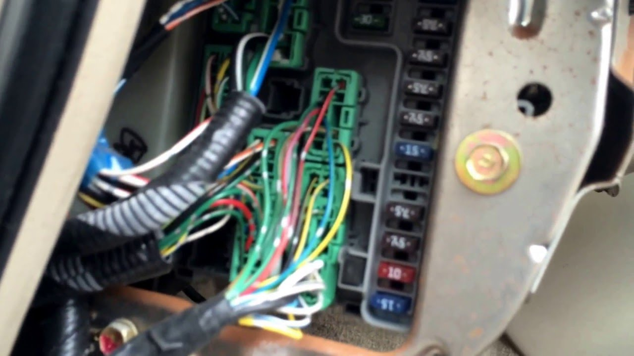 2000 Acura CL Fuse Box Location - YouTube
