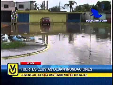 Fuertes lluvias dejan inundaciones en Delta Amacuro