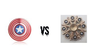 8 sided spinner Vs captain america spinner
