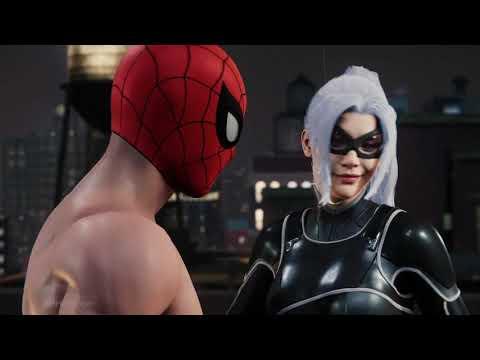 Marvel's Spider-Man - All Black Cat Scenes as Spider-Man Undies