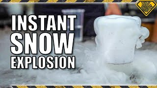 What Happens If You Mix Liquid Nitrogen and Instant Snow?