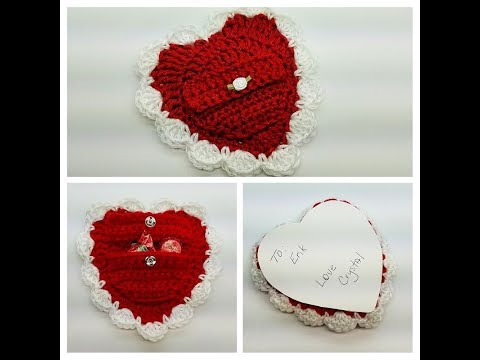 How To Crochet Valentine with Pouch Valentines Day Crochet TUTORIAL #450