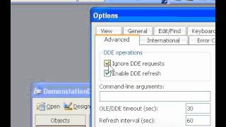 Microsoft Office Access 2003 Set OLE or DDE preferences