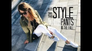 7 WAYS TO WEAR WHITE PANTS (AFTER LABOUR DAY!) | Life with A.Co