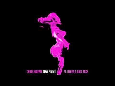 New Flame - Chris Brown [Clean Version] Ft. Usher And Rick Ross - Radio Edit - Download