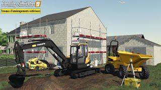 Volvo ECR88D Terrassement Driveway Creation | Farming Simulator 19