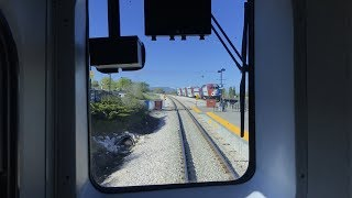 Utah Transit Authority HD 60fps: FrontRunner Head-End View Full Line Ogden to Provo (Time-lapse 4x)