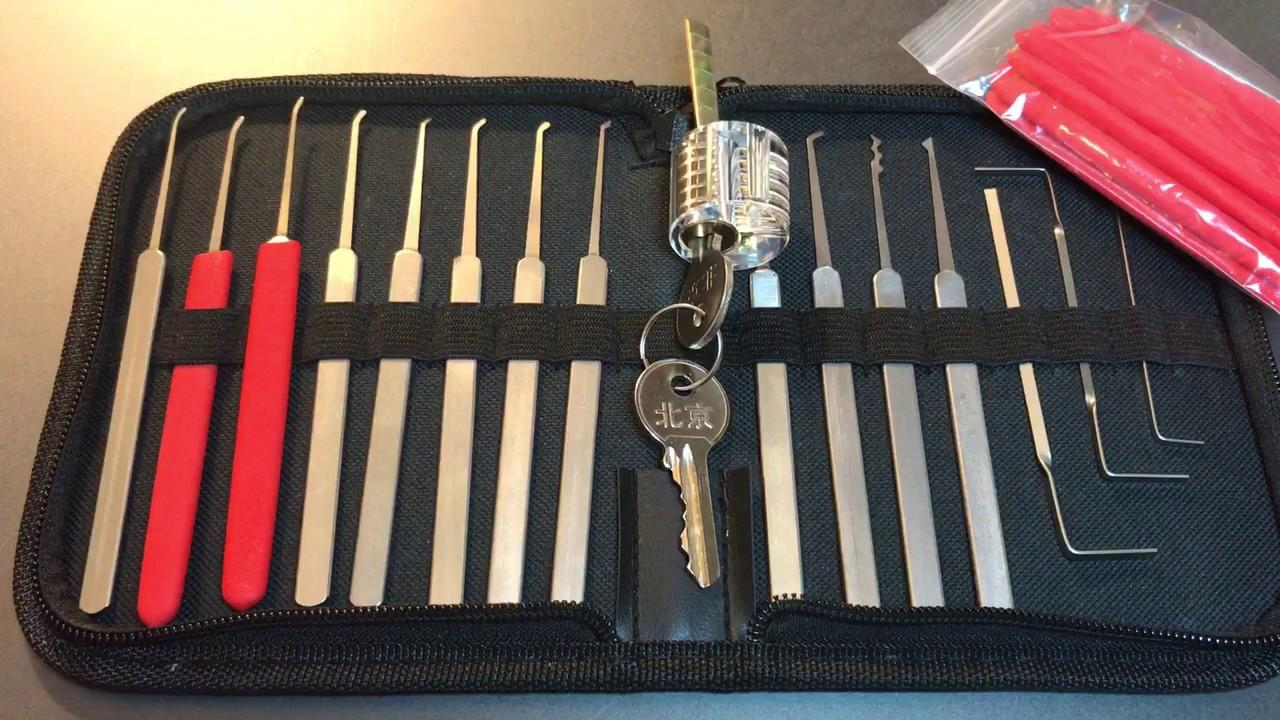 [347] Banggood 12-Piece High Quality Lock Pick Set Review   Full Video
