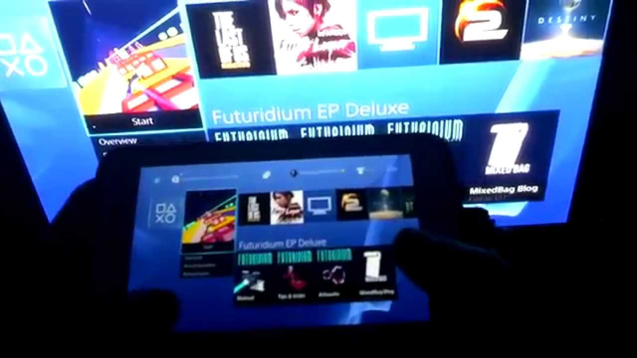 PlayStation 4 VR : dual streaming test 1: PS4 to Android ...