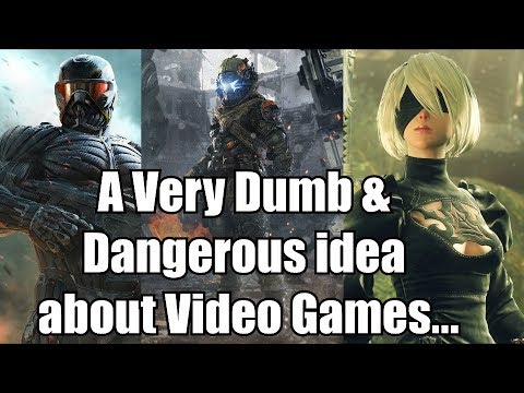 A Very Dumb & Dangerous idea about Video Games... (Feat. Downward Thrust)