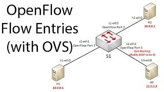 OpenFlow flow entries on Open vSwitch (OVS)
