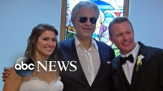 Andrea Bocelli Goes Undercover to Surprise a Bride