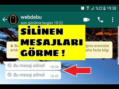 Whatsapp Herkesten Silinen Mesajları Okuma (Whatsapp Geri Alınan Mesajları Görme)