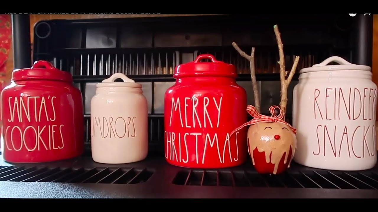 Rae Dunn Christmas 2020 Canister Rae Dunn Christmas 2019 & Home Decor Haul #5 & Organization   YouTube