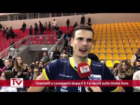 Giannelli e Lorenzetti dopo il successo per 3-1 a Veroli