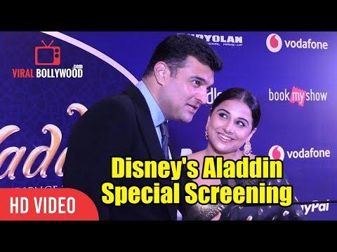 Vidya Balan And Siddharth Roy Kapur At Disney's Aladdin Special Screening | Viralbollywood