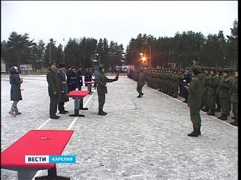 Новобранцы приняли присягу в Петрозаводске