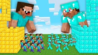 Minecraft BIGGEST CASTLE ARMY BATTLE in Noob vs Pro Animation