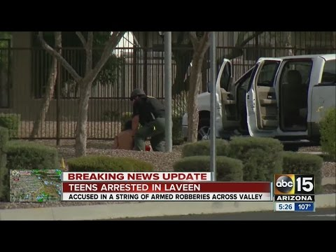 PHX PD: 5 teen suspects linked to 5 robberies