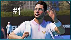 AO Tennis 2 Career Mode Episode 1 - FIRST MATCH | PS4 Pro Gameplay
