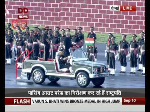 Pranab Mukherjee reviews passing-out parade at Chennai