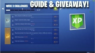 *Leaked* Season 7 Fortnite Week 3 Challenges Guide & Holiday Giveaway! Fortnite Battle Royale