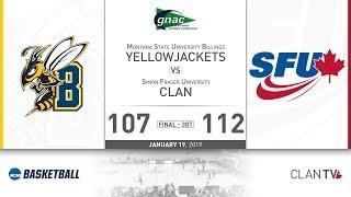 SFU Men's Basketball vs. MSUB - January 19, 2019