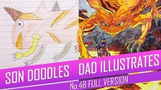 DRAWING with my kids - VOLCANO BEAST [FULL VERSION] No.48