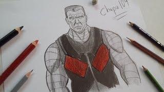 Dibujo de Colossus: Deadpool/ Drawing Colossus: Deadpool